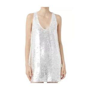 Sequin dress color white